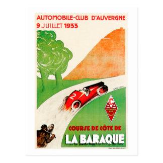Anuncio del coche del vintage del ~ del club del tarjeta postal