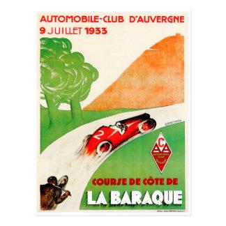 Anuncio del coche del vintage del ~ del club del tarjetas postales