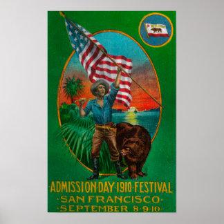 Anuncio del día de admisión, festival 2 del estado posters
