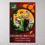Anuncio del día de admisión, festival del estado póster
