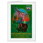 Anuncio del día de admisión, festival del estado tarjeta de felicitación
