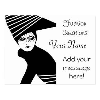 Anuncio del diseñador de moda postales