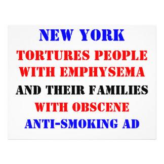 Anuncio del enfisema de NY Tarjetas Informativas