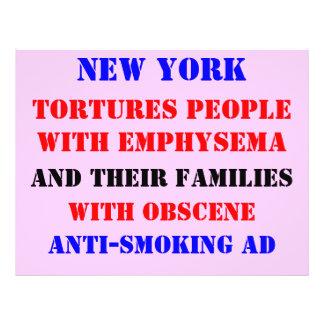 Anuncio del enfisema de NY Tarjeton