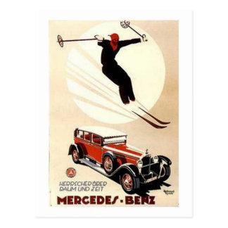 Anuncio del esquí del Benz de Mercedes del vintage Postales