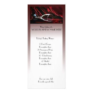 anuncio del estante de la degustación de vinos tarjetas publicitarias