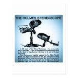 Anuncio del estereoscopio de Holmes (Cyanotype) Postal