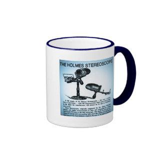 Anuncio del estereoscopio de Holmes (Cyanotype) Taza De Café