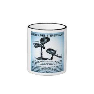 Anuncio del estereoscopio de Holmes (Cyanotype) Taza