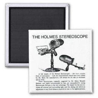 Anuncio del estereoscopio de Holmes - vintage Imán Cuadrado