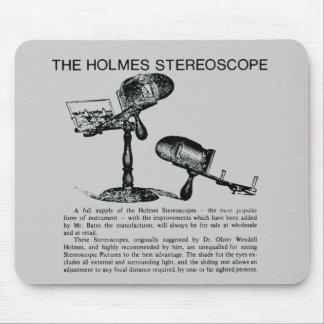 Anuncio del estereoscopio de Holmes - vintage Mousepads