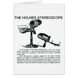 Anuncio del estereoscopio de Holmes - vintage Tarjeta De Felicitación