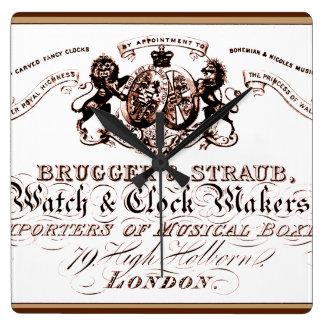 anuncio del fabricante del reloj del vintage