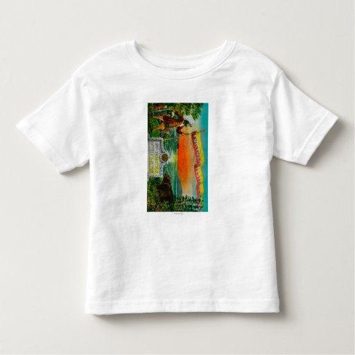 Anuncio del festival de Portola (explorador) Camisas