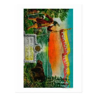 Anuncio del festival de Portola (explorador) Postales
