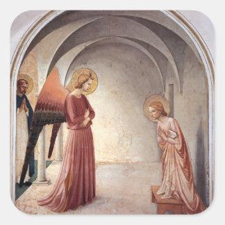 Anuncio del Fra Angelico- Pegatinas Cuadradases Personalizadas