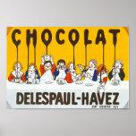 Anuncio del francés de Chocolat Delespaul Havez Póster