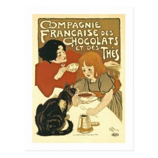 Anuncio del francés del vintage de Chocolats Postal