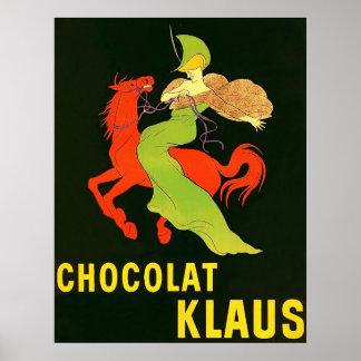 Anuncio del francés del vintage del ~ de Chocolat  Impresiones