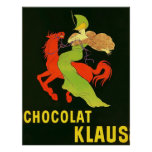 Anuncio del francés del vintage del ~ de Chocolat  Póster