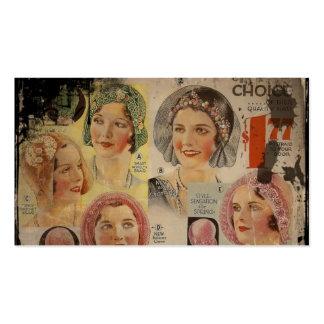 Anuncio del gorra de los años 20 del rugido plantilla de tarjeta de negocio
