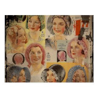 Anuncio del gorra de los años 20 del rugido tarjeta postal