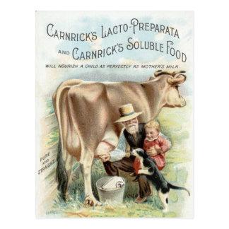 Anuncio del granjero de lechería del vintage tarjetas postales