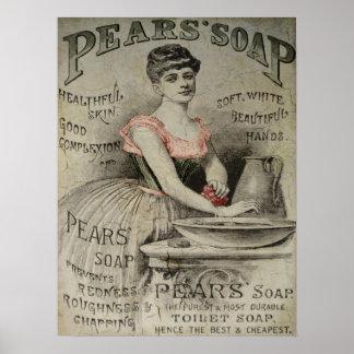Anuncio del jabón de las peras posters