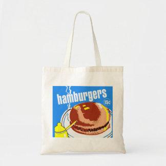 Anuncio del kitsch del vintage de los cheeseburger