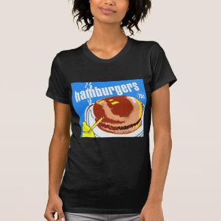 Anuncio del kitsch del vintage de los cheeseburger camiseta