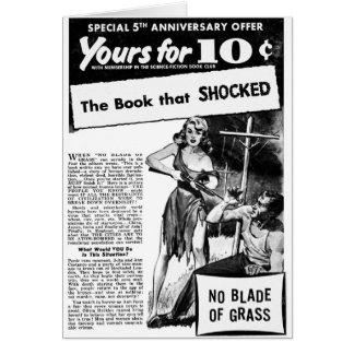 ¡Anuncio del kitsch retro del vintage mún el libro Tarjeta De Felicitación
