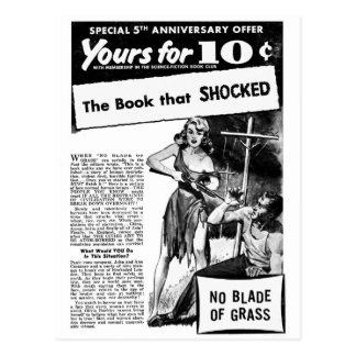 ¡Anuncio del kitsch retro del vintage mún el libro Postal