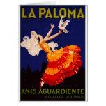 Anuncio del licor del vintage de Paloma del La Tarjeta De Felicitación