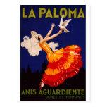 Anuncio del licor del vintage de Paloma del La Tarjetas Postales