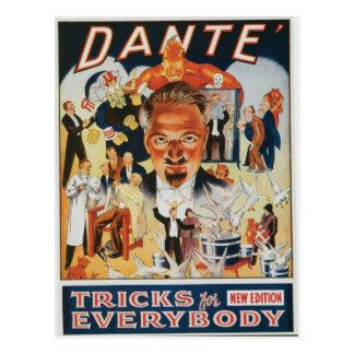 Anuncio del mago del vintage de Dante Postal