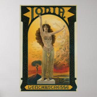 Anuncio del mago del vintage de Jonia Impresiones
