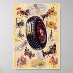 Anuncio del neumático del vintage - neumáticos de  poster
