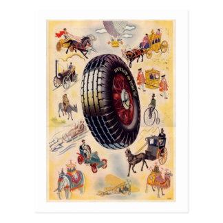 Anuncio del neumático del vintage - neumáticos de postal