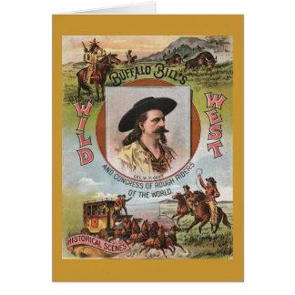 Anuncio del oeste 1893 del vintage de la demostrac tarjeta