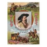 Anuncio del oeste salvaje 1893 del vintage de la d postal