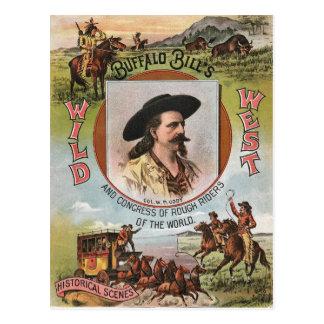Anuncio del oeste salvaje 1893 del vintage de la postal