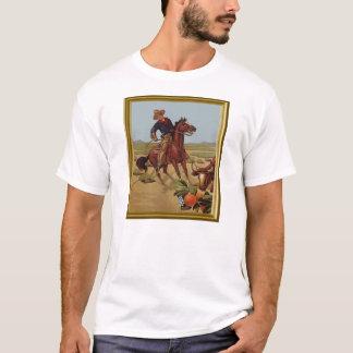 Anuncio del orage del vaquero del vintage playera
