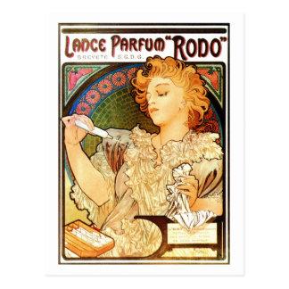 Anuncio del perfume de Mucha del nouveau del arte Tarjetas Postales