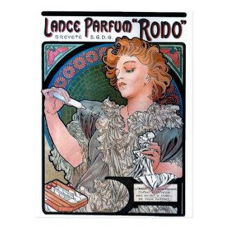 Anuncio del perfume de Parfum Rodo de la lanza de Tarjetas Postales