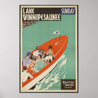 Anuncio del poster del viaje del vintage de Winnip
