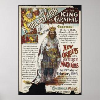 Anuncio del poster del viaje del vintage del carna