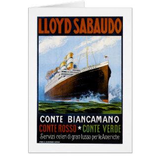 Anuncio del revestimiento marino del vintage de tarjeta de felicitación