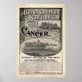 Anuncio del sanatorio del vintage a partir de 1899 poster