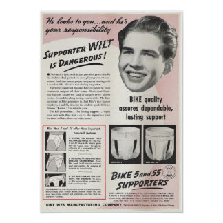 Anuncio del suspensorio del vintage poster