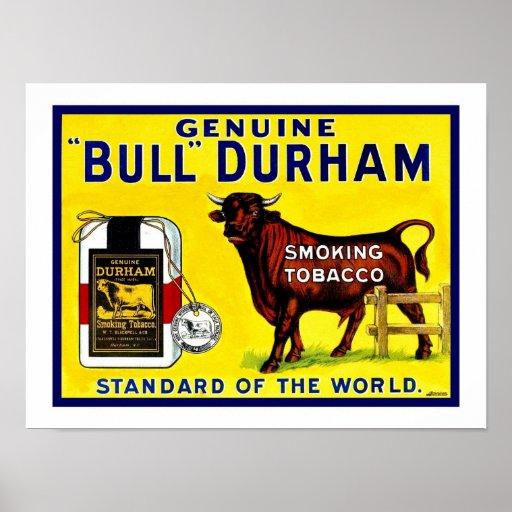 Anuncio del tabaco de Bull Durham de los 1890s del Poster